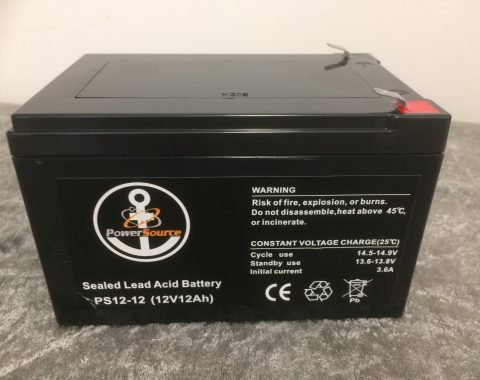 Sealed lead acid battery fra PowerSource AS