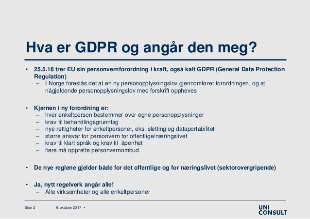 GDPR hos PowerSource AS